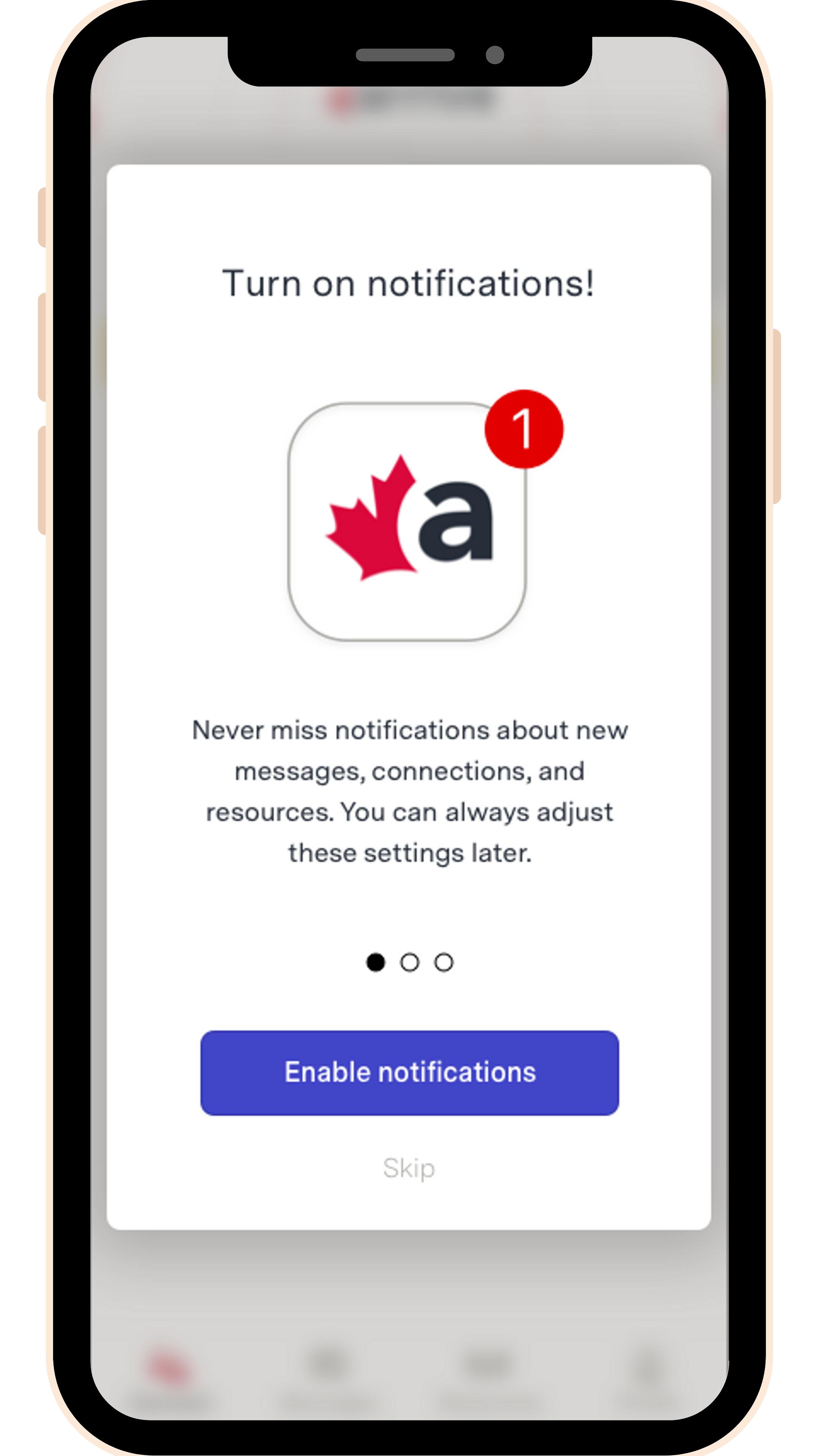 Arrive App Chat Notification