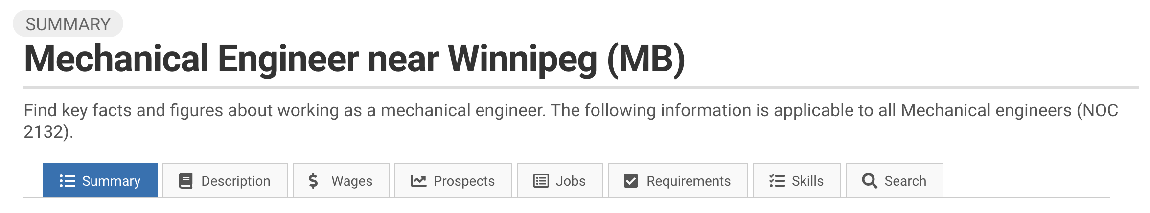 Image showing how to see StatCan trends for Mechanical Engineers near Winnipeg or other cities