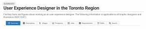 Image showing how to see StatCan trends for UX designers near Toronto or other cities