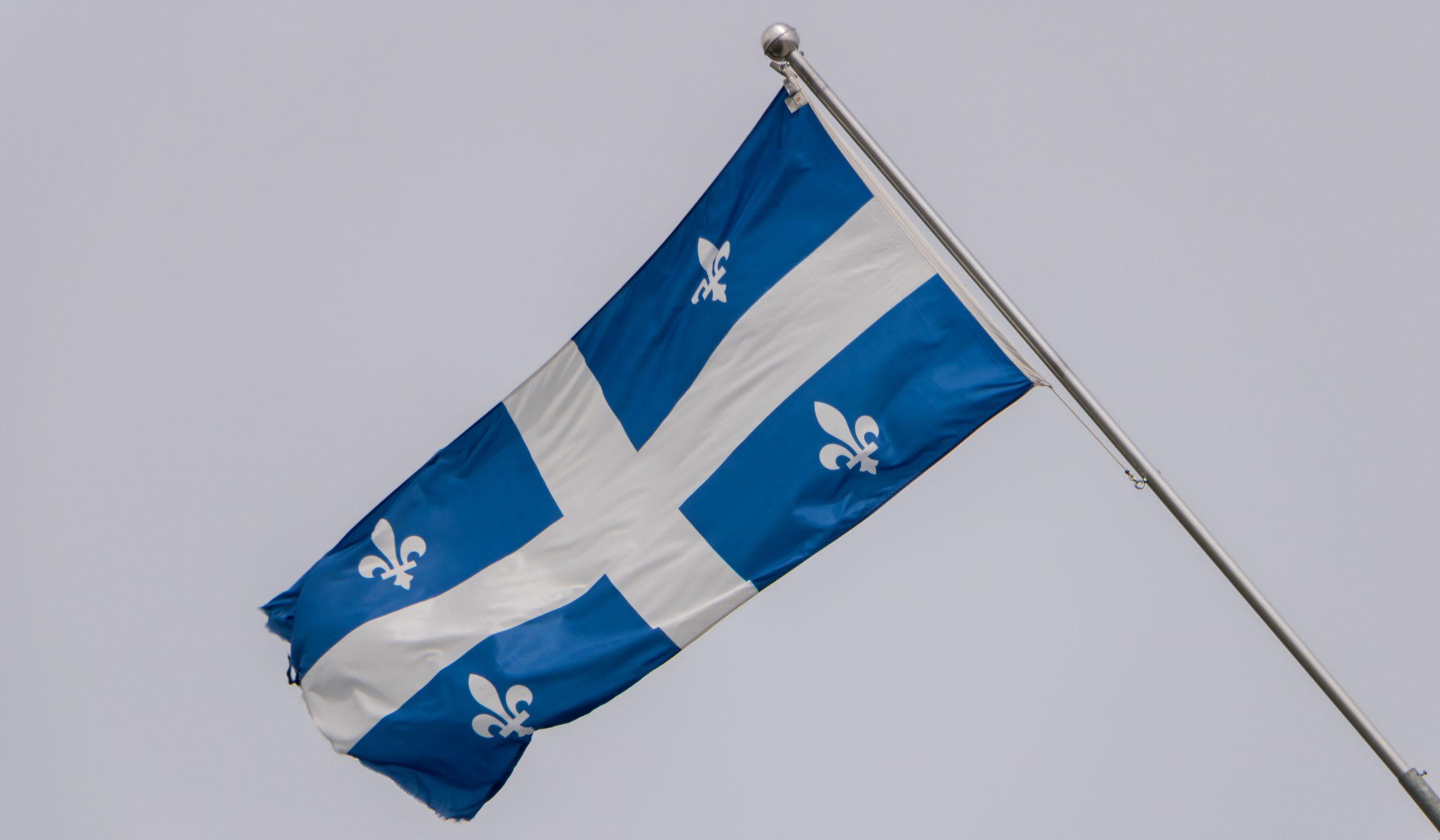 The Fleurdelisé, Quebec's provincial flag.