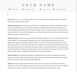 Free downloadable and editable Canada cover letter template