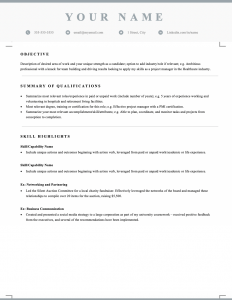 Free downloadable and editable functional skills-based resume template for Canada