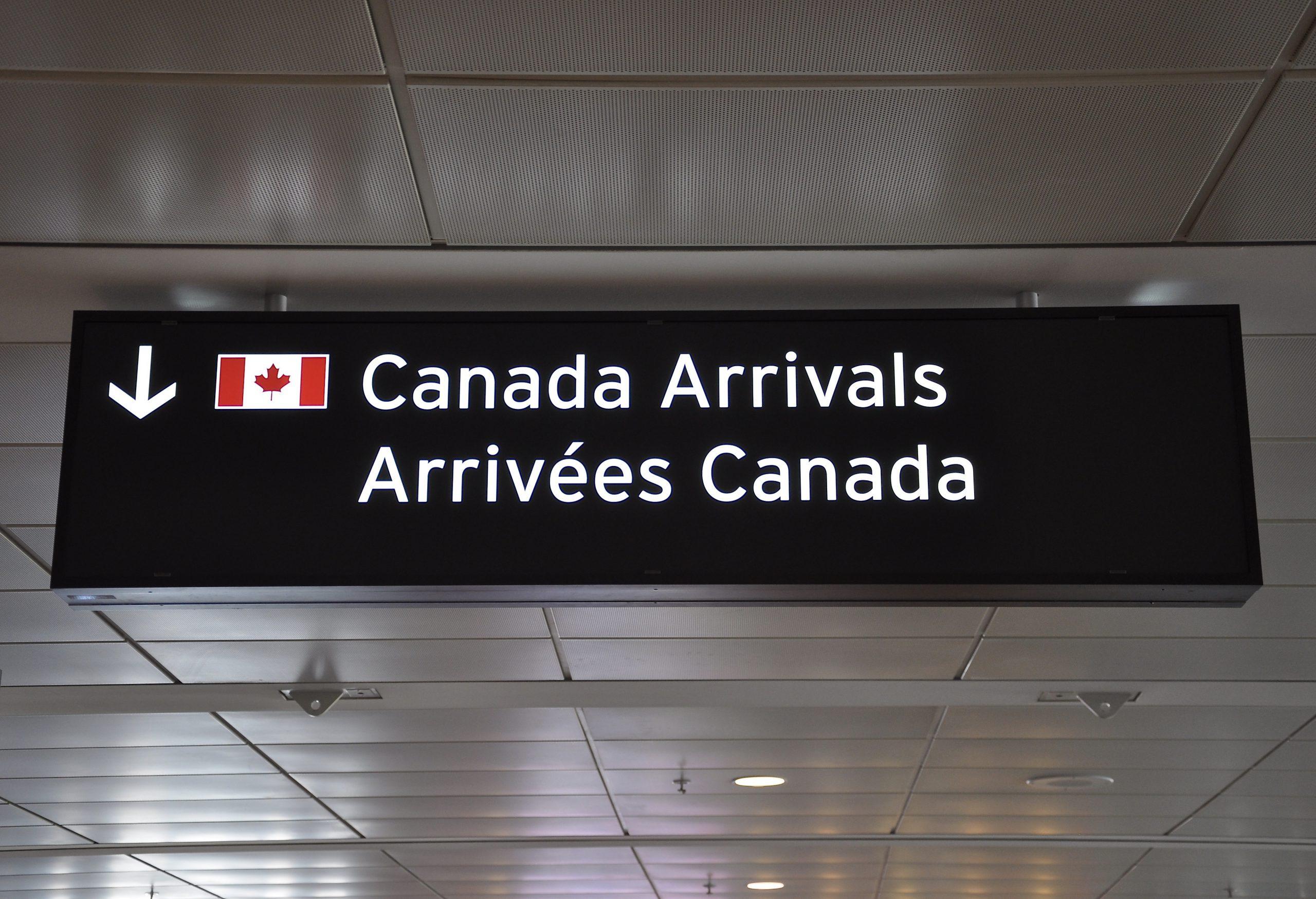 Arrive in Canada